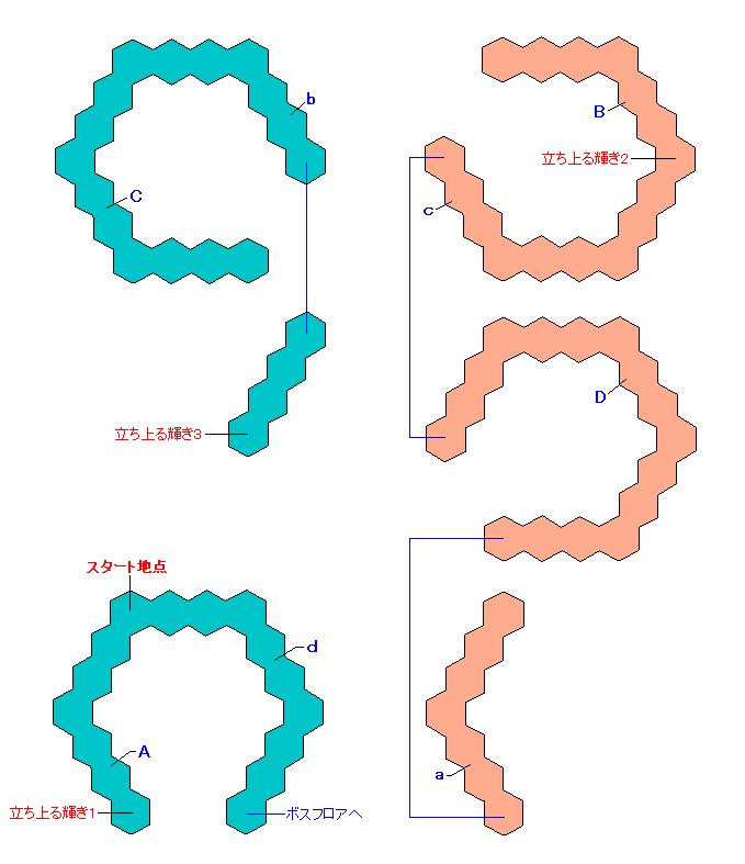 マップ画像・無明の霊異(螺旋エリア1・ミュゼ)
