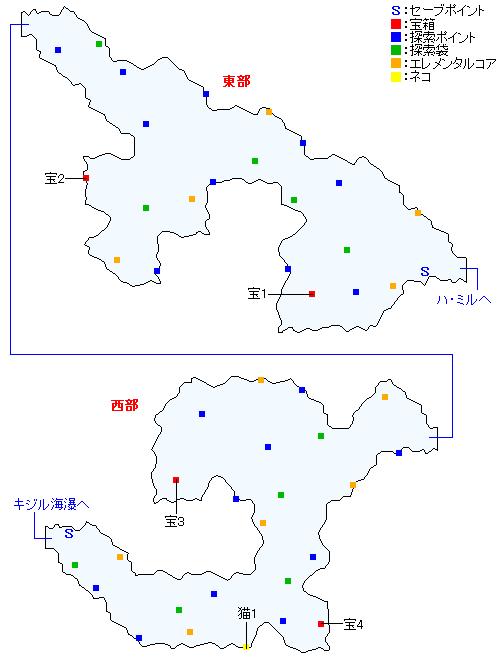 マップ画像・ガリー間道