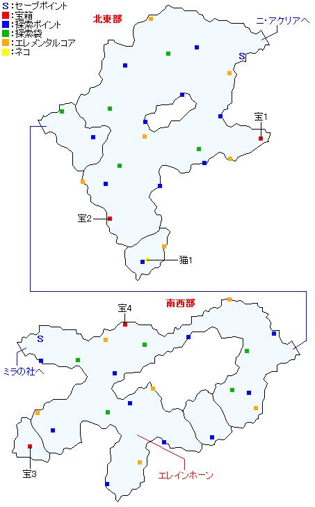マップ画像・ニ・アケリア参道(正史世界)
