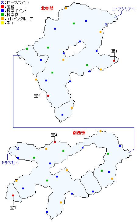 マップ画像・ニ・アケリア参道(分史世界・ミラエピソード5&アルヴィンエピソード4)