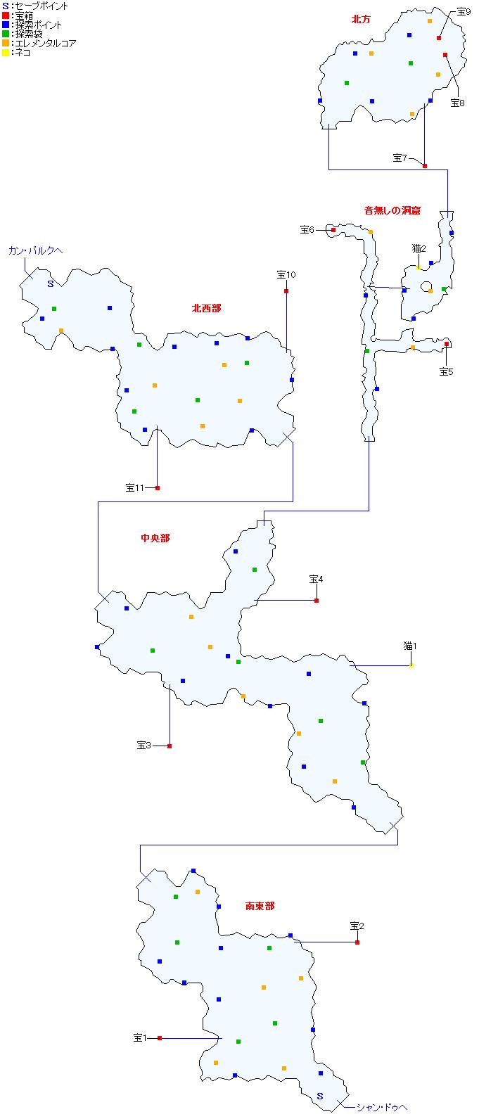 マップ画像・モン高原(正史世界)