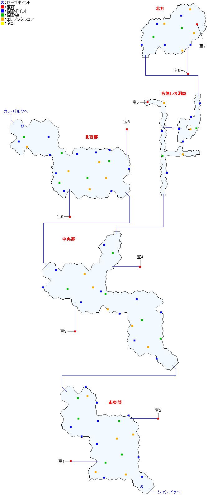 マップ画像・モン高原(分史世界・ガイアスエピソード2)