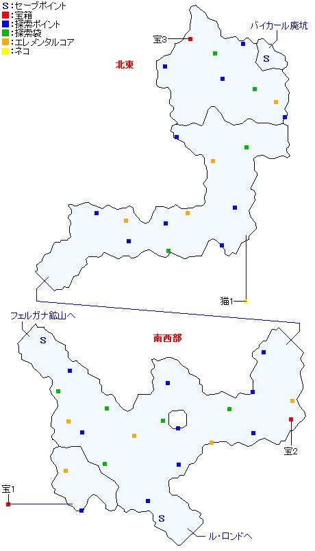 ボルテア森道マップ
