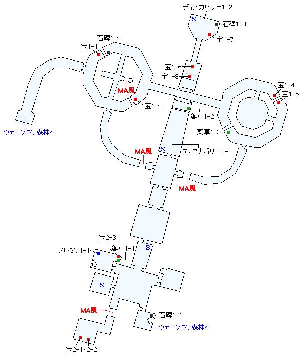 ティンタジェル遺跡群マップ