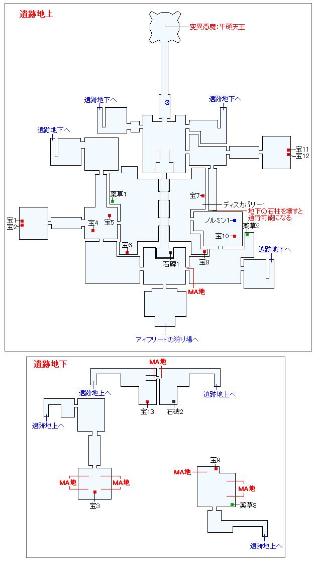 地の試練神殿モルゴースマップ