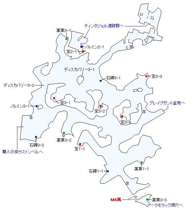 ヴァーグラン森林マップ