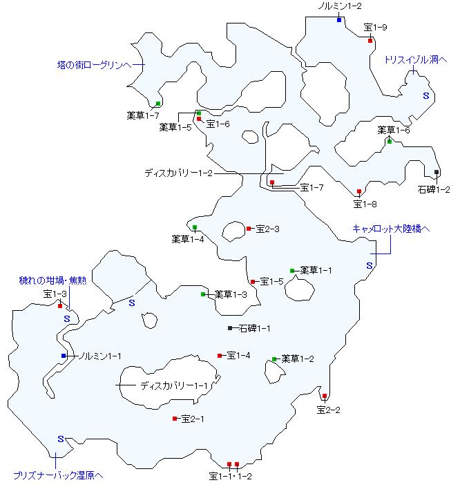 ザフゴット原野マップ