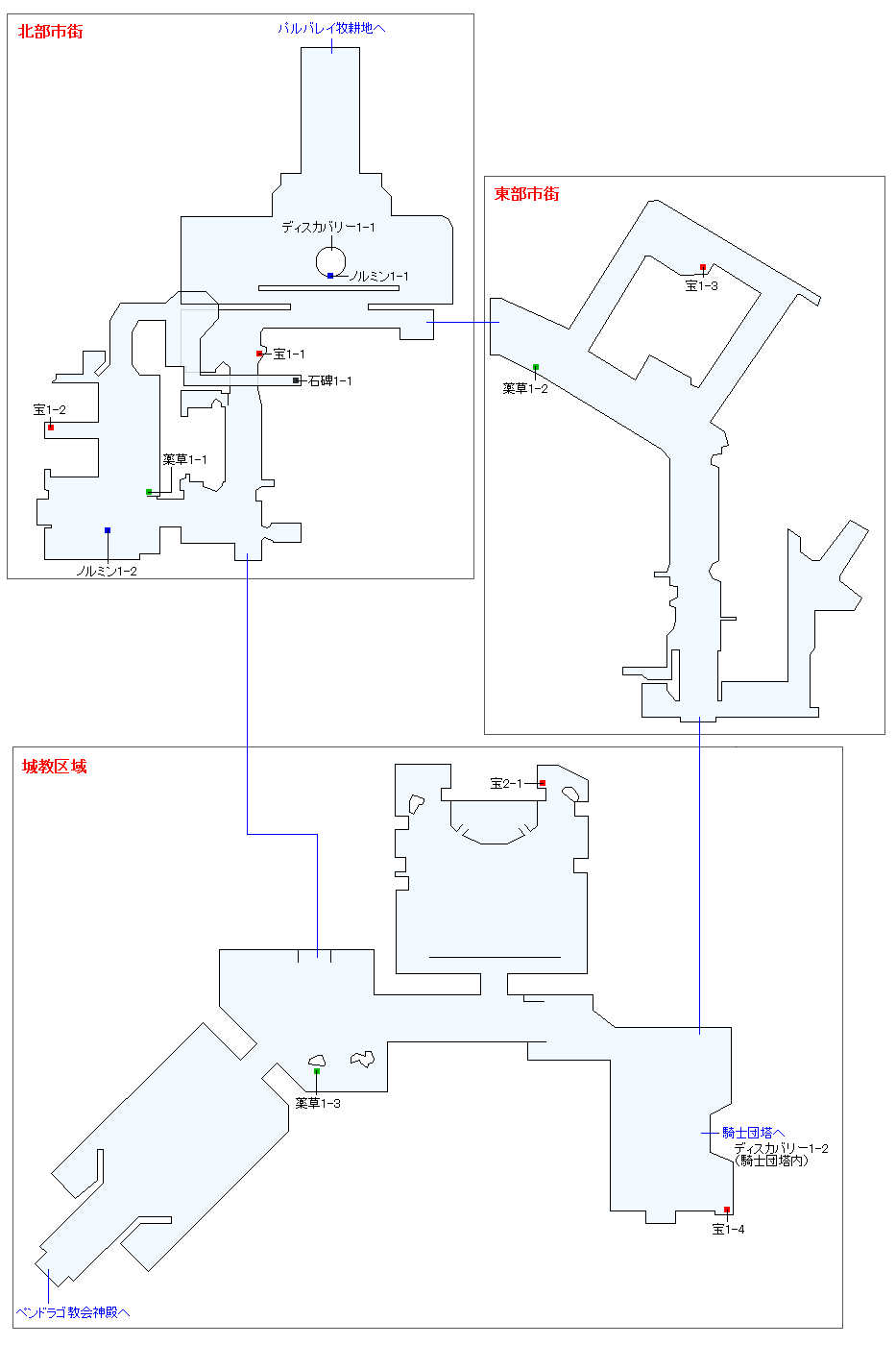 聖なる皇都ペンドラゴマップ