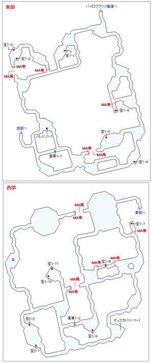 イデル鍾洞マップ