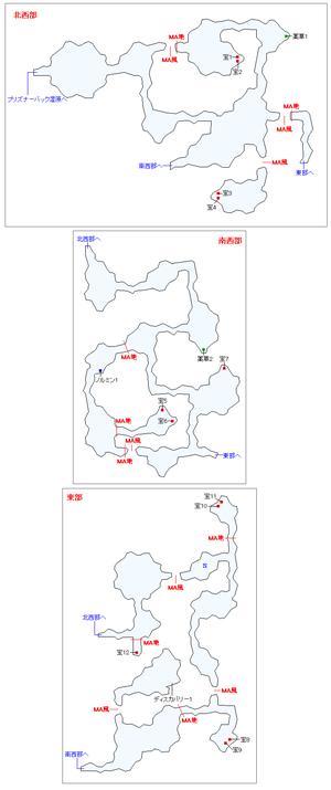 リヒトワーグ灰枯林マップ