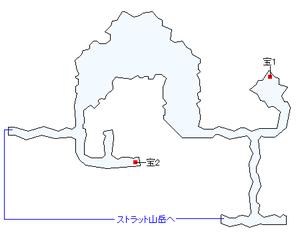 ストラット山岳の洞窟マップ