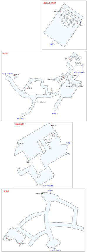 湖上の街レディレイクマップ